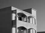 Shadowy Building in Black and White by Amy Millios