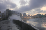 Waves Breaking on the Malecon in Havana, Cuba by Michael Beahan by Michael Beahan