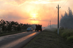 Burning Sugarcane Fields at Sunset, Cuba by Michael Beahan by Michael Beahan