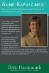 Open Dartmouth: Anne Kapuscinski, Sherman Fairchild Distinguished Professor in Sustainability Science