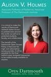 Open Dartmouth: Alison V. Holmes, Associate Professor of Pediatrics, Associate Professor of The Dartmouth Institute